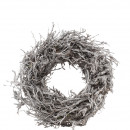 wholesale Artificial Flowers: Wreath Jaron D35cm, bead ca.12cm, white